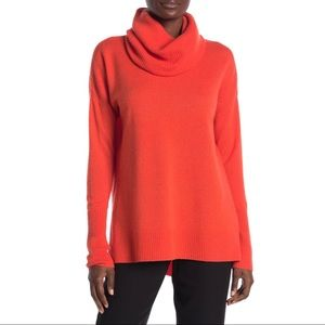 DVF NWT Wool Cashmere Turtleneck Cowl Sweater Long